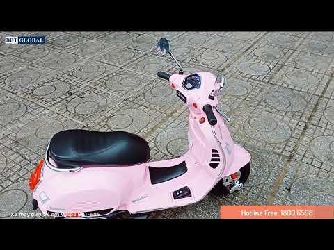 [Babycuatoi.vn] - Review xe máy điện trẻ em VESPA cho bé gái