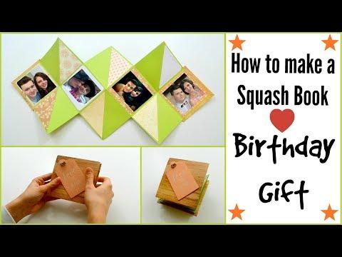 Scrapbook Card Tutorial | How to make a Squash Card (Squash Book) | DIY Paper Crafts