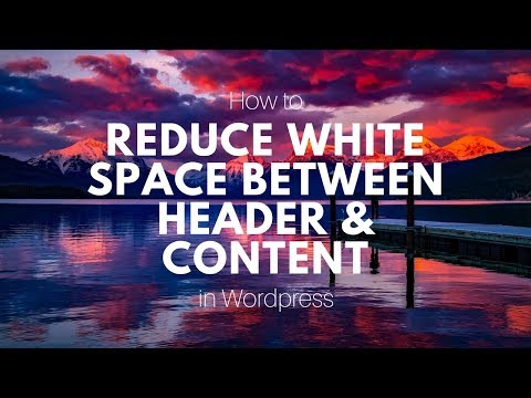 How To Reduce White Space Between Header And Content - WP Bakery/ Visual Composer Tutuorial