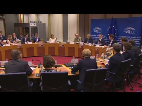 Mark Zuckerberg meeting with European Parliament leaders May 22nd 2018