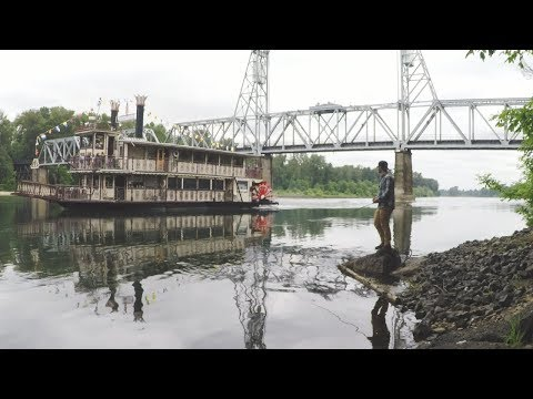 Fishing By The Willamette Queen At RiverFront Park (Oregon)