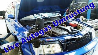 Live Umrüstung eines Audi 100 5 Zylinder Turbo mit der Prins VSI