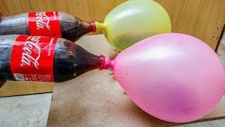 BALOON EXPERIMENT COCA COLA VS SALT VS MENTOS BALLOON FUN TRICKS BEST LIFE HACKS thumbnail