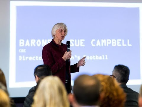 Baroness Sue Campbell speaks at Women in Sport Event