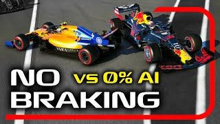 Can You Beat 0% AI Without BRAKING on the F1 2019 Game?!