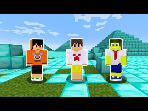 ENCONTRAMOS O MUNDO SECRETO DE DIAMANTE !! - (MINECRAFT)