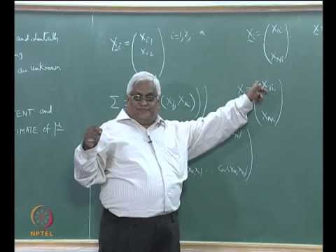 Mod-02 Lec-11 Normal Distribution and Parameter Estimation