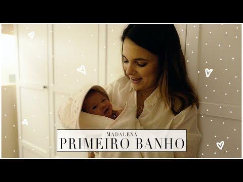 MADALENA Primeiro Banho/Video | A Maria Vaidosa