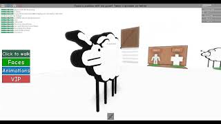 Roblox Fudz roleplay how to get the bacon flakes and beep beep im a sheep badge