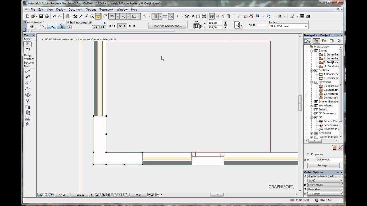 Archicad Tutorialcorner Window Rportierproductionsavi Youtube