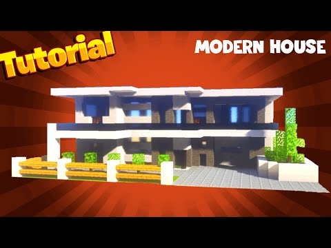 How To Build a Large Modern House In MINECRAFT TUTORIAL #4