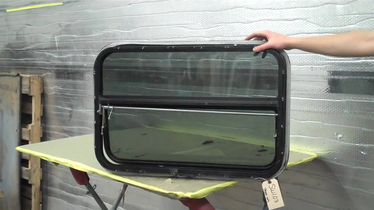 Rv window with vent motorhome toy hauler fifth wheel 20x30 youtube
