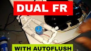 DUAL FLOW RESTRICTORS WITH AUTOFLUSH