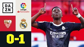 Vinicius erzwingt das Ende der Horrorwoche: FC Sevilla - Real Madrid 0:1 | LaLiga | DAZN Highlights