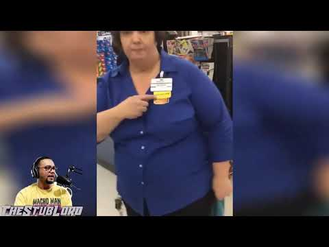 Military personnel fighting with Walmart managers