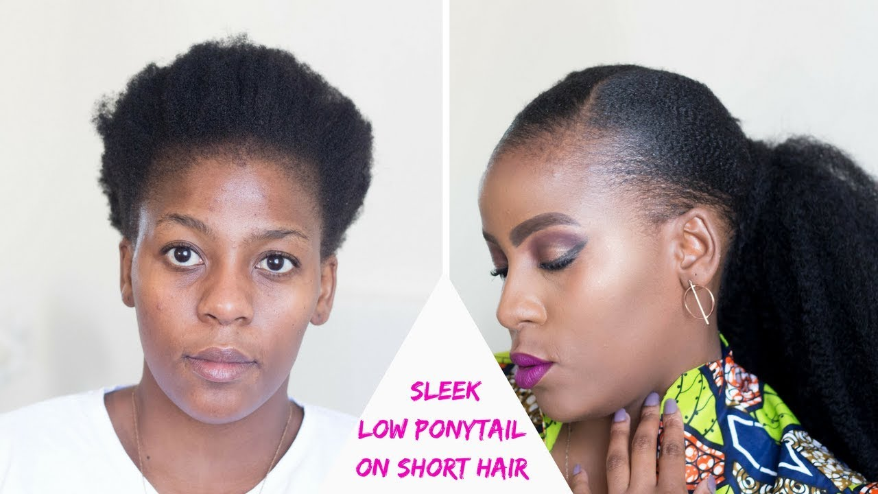 How To Sleek Low Ponytail On Short Natural Hair Twa Hairstyles African Natural Hair Blogger Youtube
