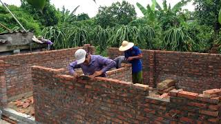 build A Small Brick House Cheap - House Construction Building A Brick Wall Using Sand And