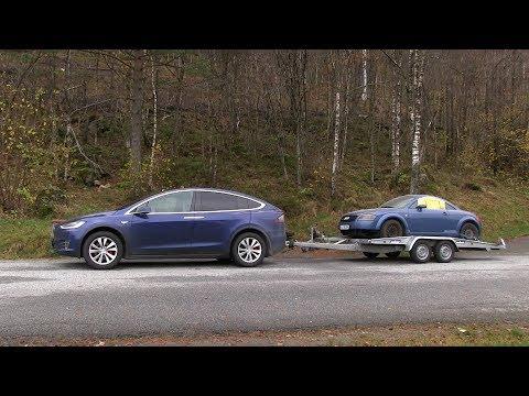 Model X consumption pulling Audi TT