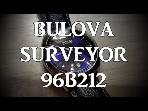 Bulova Surveyor 96B212 (Accutron II high accuracy quartz, 57,600bph) - Review, Measurements, Lume