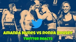 Amanda Nunes vs Ronda Rousey (Twitter reacts)