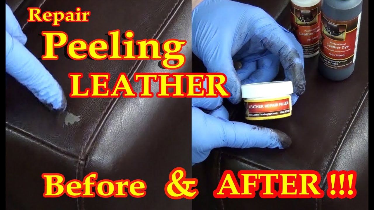 my leather chair is peeling rustic repair video ***** - youtube