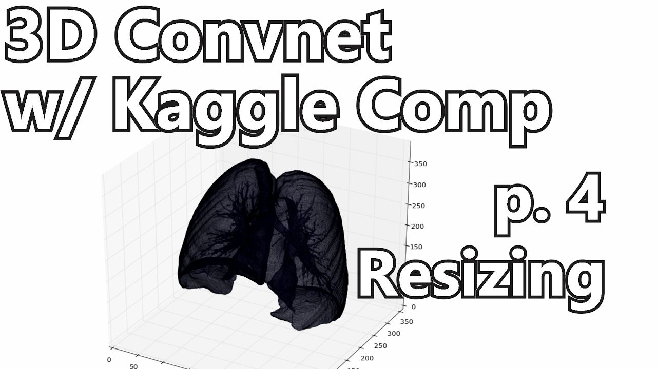 Resizing Data - 3D Convolutional Neural Network w/ Kaggle and 3D medical  imaging p 4