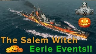 "World of Warships - The ""Salem Witch"" Boss Ship in Eerie Events! - Gameplay"
