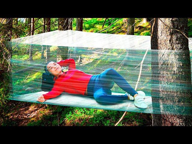 Primitive Bushcraft Shelter    Easy Crafts for Beginners #Shorts