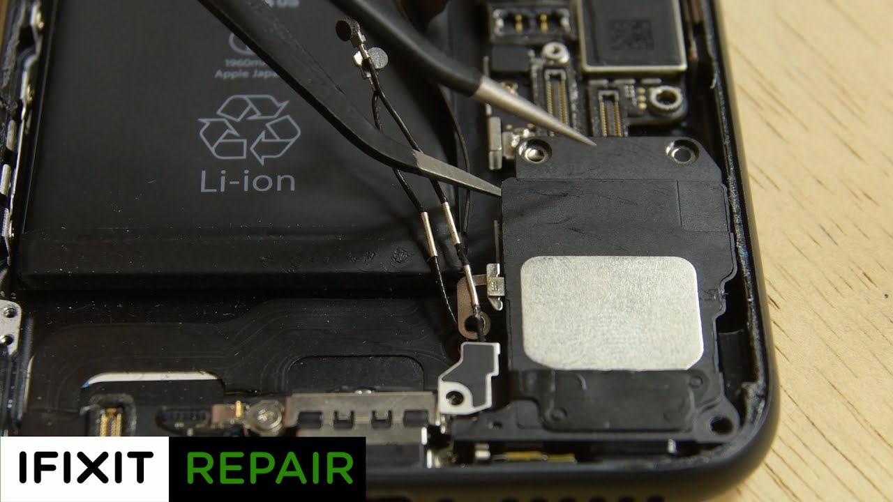 hight resolution of iphone 7 speaker replacement how to