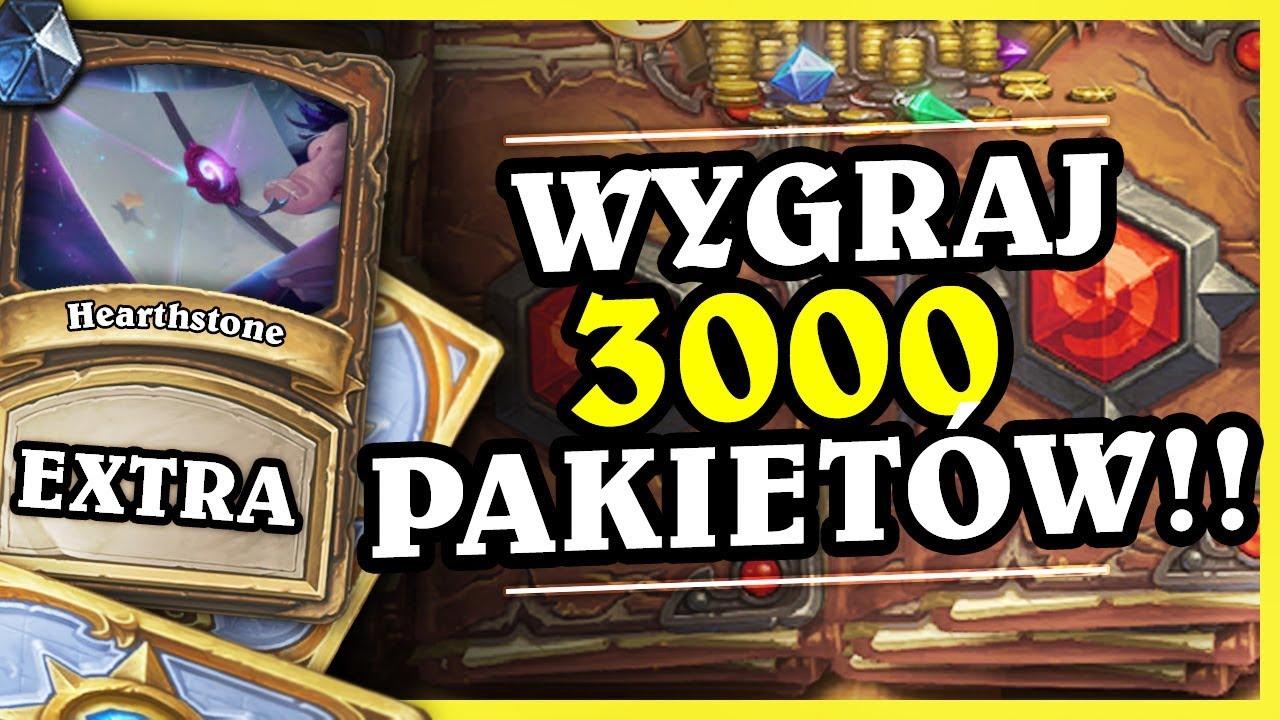 WYGRAJ 3000 PAKIETÓW! GIVEAWAY 183 000 PAKIETÓW! – Hearthstone Extra
