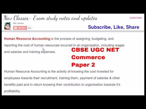 Human resource accounting   CBSE UGC NET   commerce