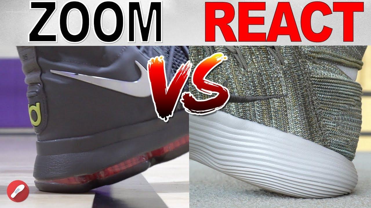 18988441e094f Nike Zoom vs React! What s The Better Cushion  - YouTube