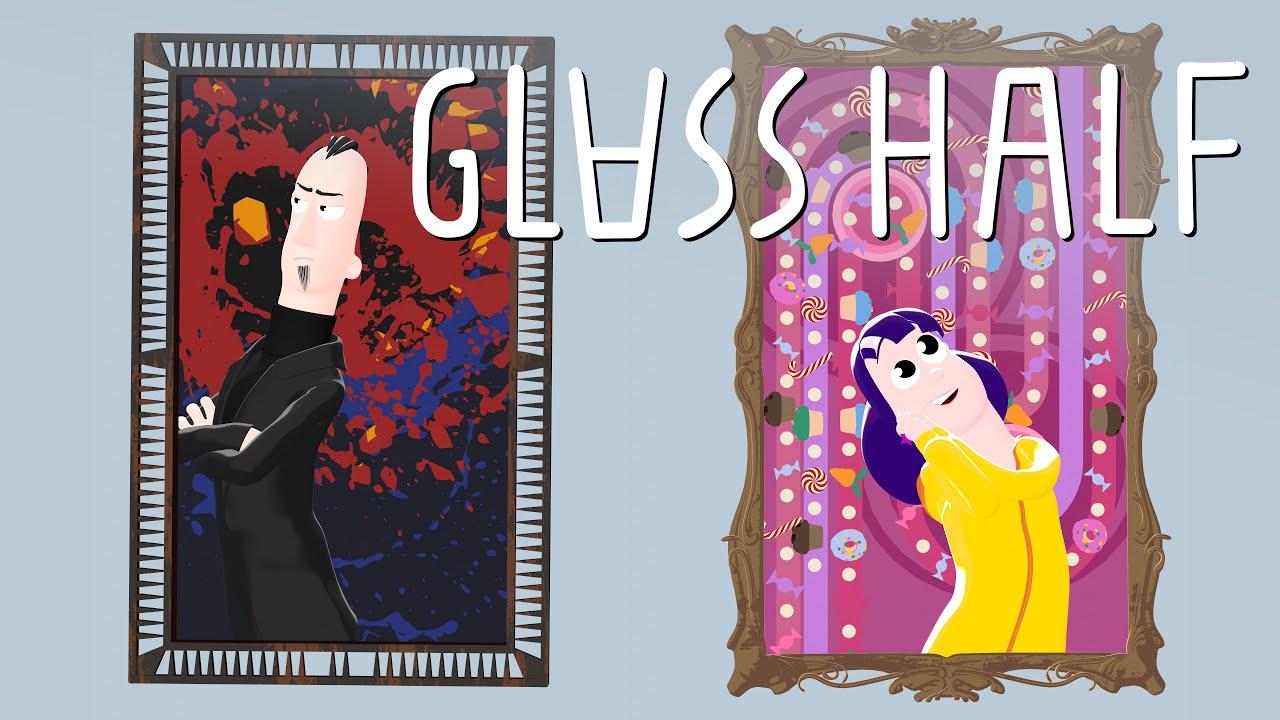 Glass Half - Blender animated cartoon