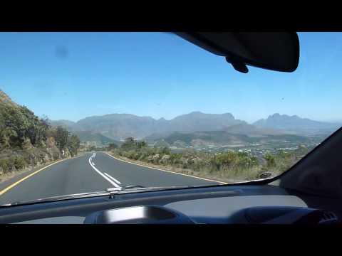 Über den Franschhoek Pass (Kommentierte Fahrt) in Südafrika