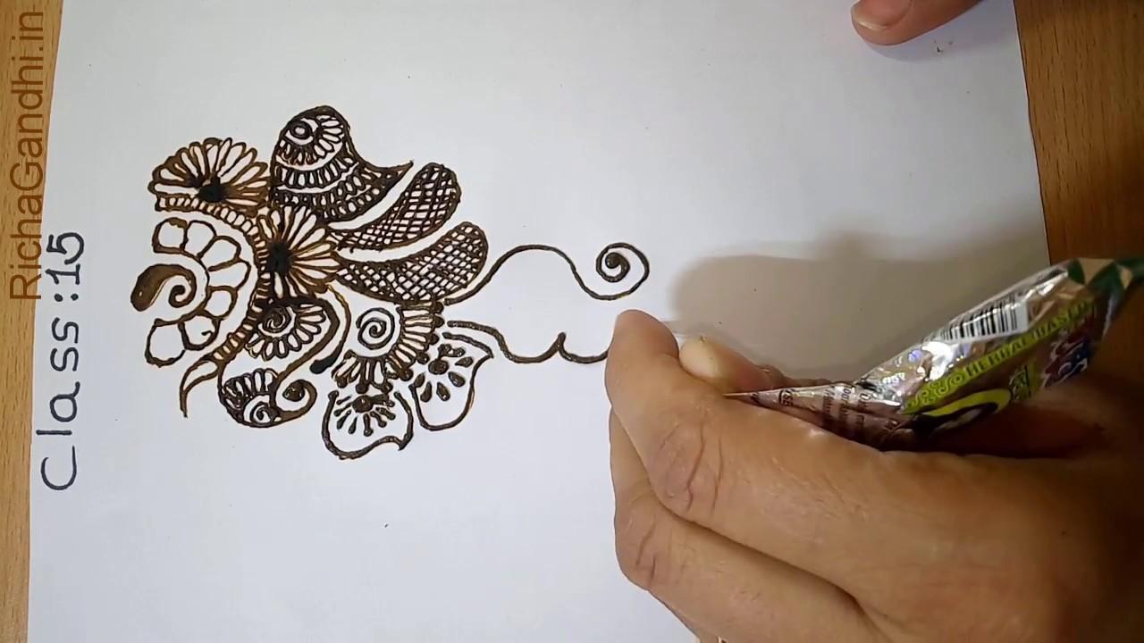 Learn To Draw Mehandi In Hindi Class 15 Youtube