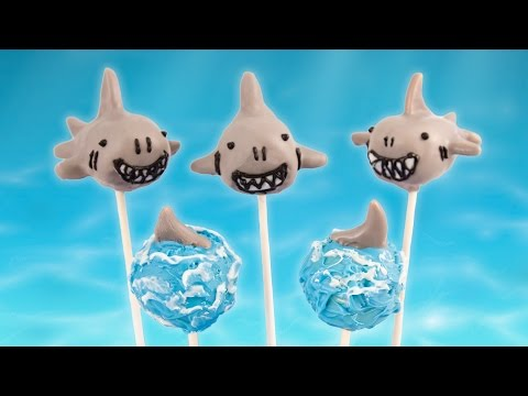 Shark Cake Pops For Shark Week From Cookies Cupcakes And Cardio