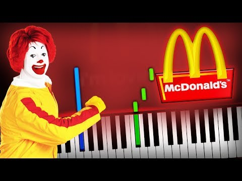 McDonald's - I'm Lovin' It Jingle (McDonalds Theme) Piano Tutorial (Sheet Music + Midi) Synthesia