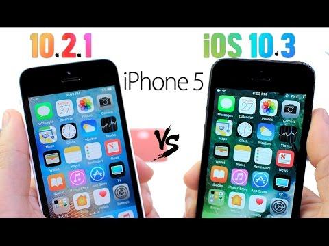 iPhone 5 iOS 10.2.1 Vs iOS 10.3