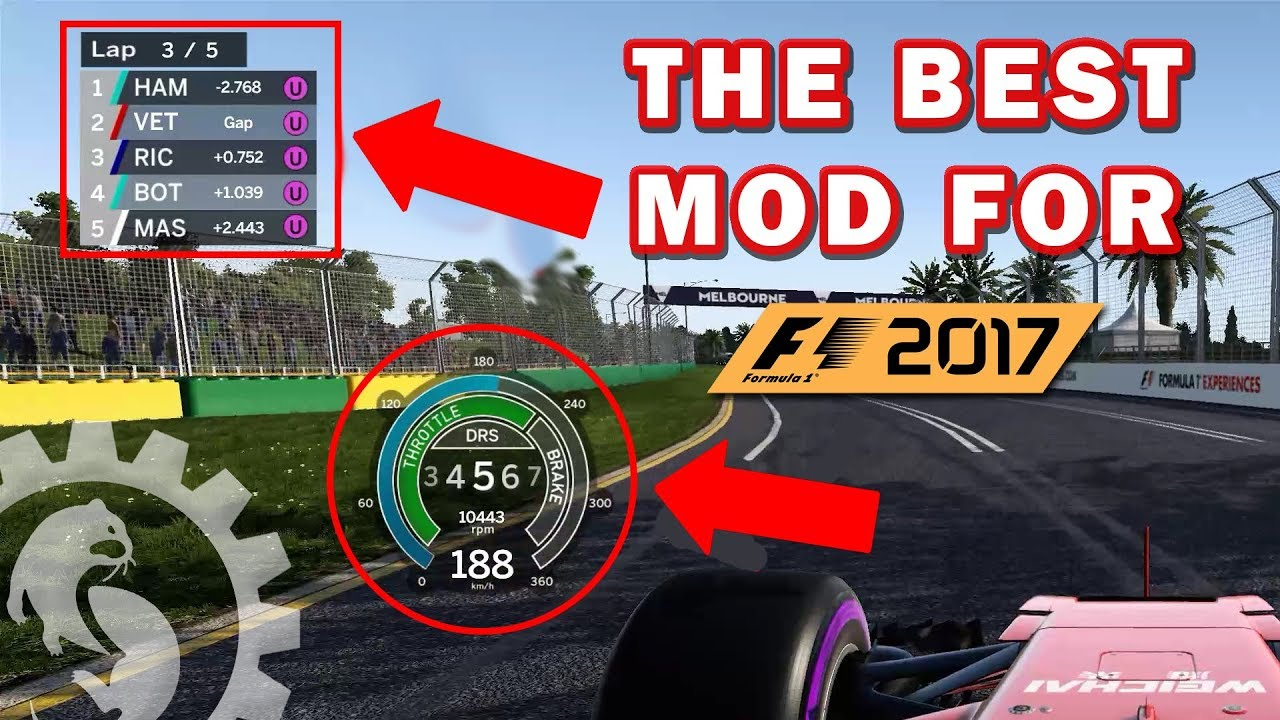 argHUD: THE BEST MOD FOR F1 2017 - How to install and set it up!
