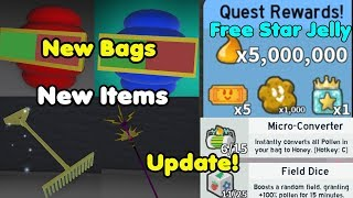 UPDATE! New Items! New Bags! Completed All New Black Bear Missions - Bee Swarm Simulator