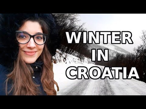 WINTER IN CROATIA | How Cold Can It Get? | Does It Snow On Croatian Islands?