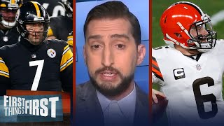 Browns win defines Baker as face of the franchise & Cleveland QB — Nick | NFL | FIRST THINGS FIRST