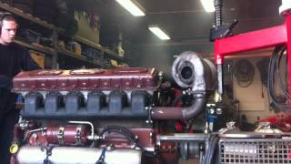 Transmash V12 Diesel 38.8dm3 with turbo Start Engine