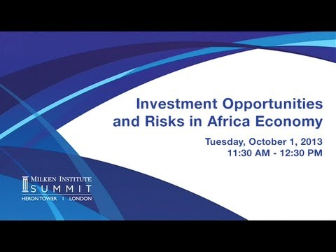 MI Summit 2013 - London: Investment Opportunities and Risks in Africa