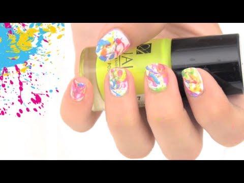 Pintado de u as con salpicados youtube - Unas modelos para pintar ...