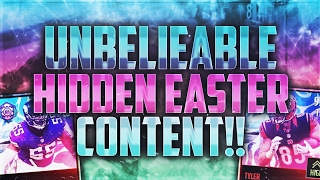MADDEN MOBILE 17 HIDDEN EASTER PLAYERS!! HOW TO GET AN UNBELIEVABLY RARE LOGO FOR FREE!