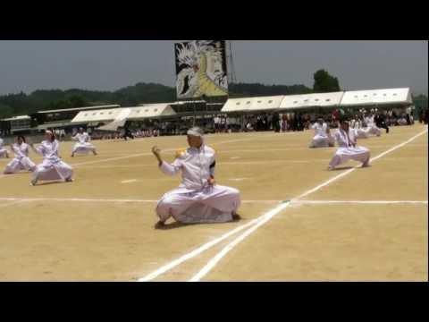 池田学園(鹿児島) 第19回体育祭 白軍応援団! 20090614