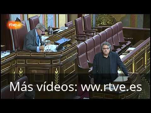 El diputado de ERC Joan Tardà, expulsado del Congreso por pretender hablar en catalán.