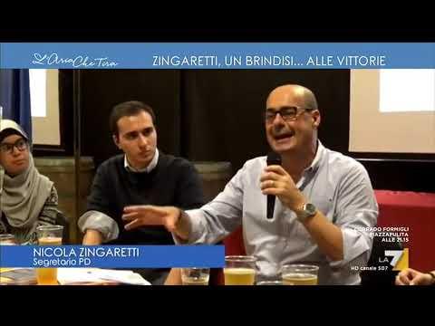 Nicola Zingaretti, un brindisi... alle vittorie