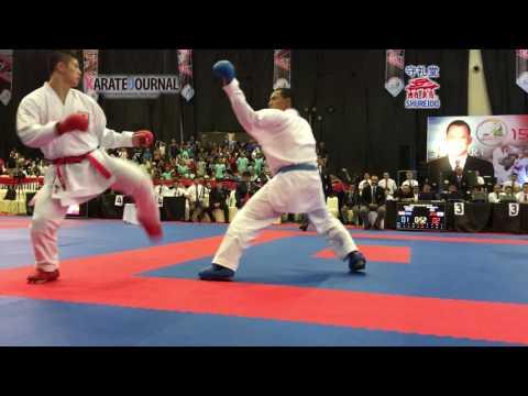 AKF 2016 Junior Kumite Male FINAL 76+kg SHIMADA RIKITO (JPN) Vs DANIEL DANIEL (INA)